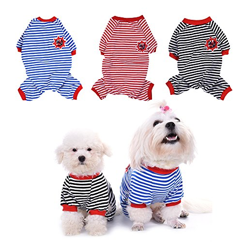 WIDEN Cute Pet Dog Pajamas Jumpsuits Puppy Clothes Cotton