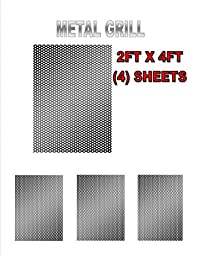 4 SHEET BLACK METAL 2\' X 4\' X 1.2MM DJ SPEAKER/WOOFER CABINET GRILL SHEET COVER