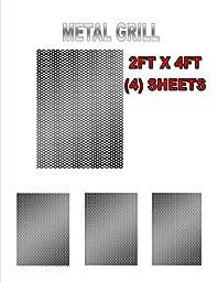 4 SHEET BLACK METAL 2\' X 4\' X 1.2MM DJ SPEAKER/WOOFER CABINET GRILL SHEET COVER
