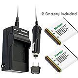 Kastar Battery (2-Pack) and Charger Kit for Kodak KLIC-7001 and Kodak EasyShare M320, M340, M341, M753 Zoom, M763, M853 Zoom, M863, M893 IS, M1063, M1073 IS, V550, V570, V610, V705, V750 Cameras