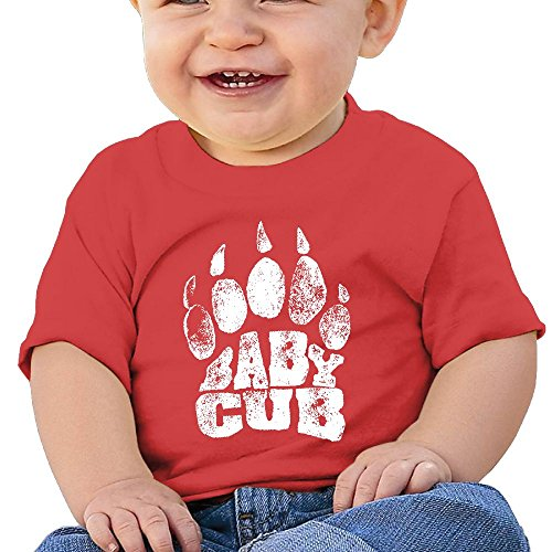 Baby Cub Toddler Short-Sleeve Round Neck Shirts Baby Undershirts Tees - For Boys And Girls Red 6 (Cub Scout Halloween Costume)