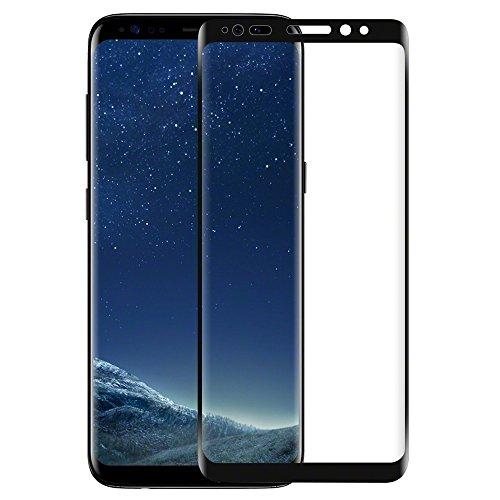 意識的フックフォーマットGalaxy S8+ フィルム,I-Enjoy 3D曲面 高硬度 旭硝子製 Samsung Galaxy S8 Plus ガラスフィルム 二色選択可能(ブラック)