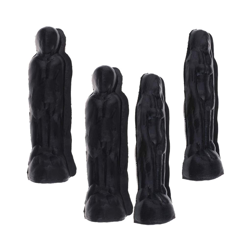 Prettyia 4pcs Male and Female Shape Candle Mold -Soap Mould for Handmade Crafts -Candle Making Tools Supply