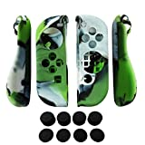 ps2 grand theft auto trilogy - Hikfly 2pcs Silicone Gel Hand Grip Non-Slip Cover Skin Protector Kits For Nintendo Switch Joy-Con Controller With 8pcs Silicone Gel Thumb Grips Caps(Green Camouflage)