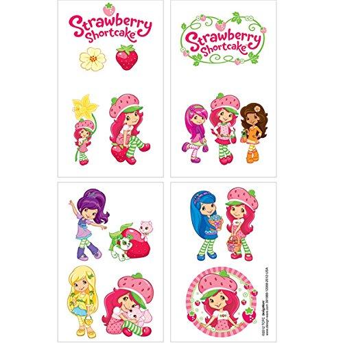 Strawberry Shortcake Tattoos Set of 16 (Strawberry Shortcake Baby Items)