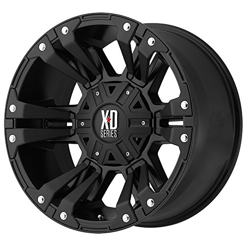 XD SERIES BY KMC WHEELS XD822 MONSTER II Wheel with BLACK and Chromium (hexavalent compounds) (17 x 9. inches /6 x 72 mm, 18 mm Offset)
