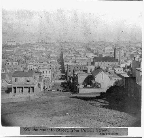 Photo: Sacramento Street,from Powell Street,San - San Francisco Street Ca Powell