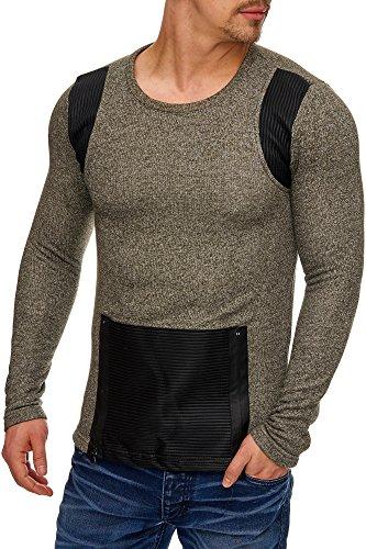 TAZZIO Herren Oversize Sweatshirt Pullover Hoodie 1231