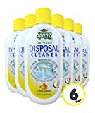 Cleaning a Garbage Disposal Garbage Disposal Cleaner Value Pack, 6 Bottles 12 Oz Each By Spring Again For Complete Cleaning Of Entire Disposer Citrus Scent