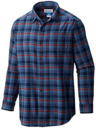 Columbia Men's Tall Vapor Ridge III Long Sleeve Shirt, Super Blue/Multi Plaid, 4X/Tall
