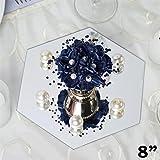 Tableclothsfactory 8'' Hexagon Glass Mirror Wedding Party Table Decorations Centerpieces - 6 PCS