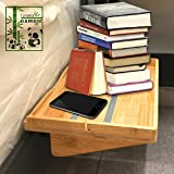 loft bedroom ideas Bedside Caddy Table Shelf Organizer Non-slip Bamboo Floating Nightstand for Bunk Beds, College Dorms, Lofts Beds, Headboards, Nighstands by TJ.MOREE