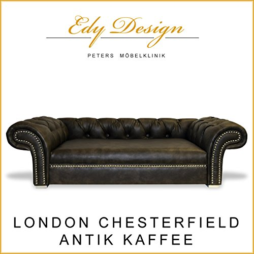 Hundesofa LONDON Chesterfield Antik Kaffee XXL EXKLUSIV -NEU- HANDMADE
