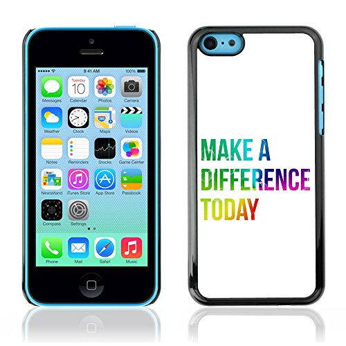 DREAMCASE Citation de Bible Coque de Protection Image Rigide Etui solide Housse T¨¦l¨¦phone Case Pour APPLE IPHONE 5C - MAKE A DIFFERENCE TODAY