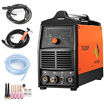 200A Inverter TIG Welder Pulse Digital High Frequency TIG Welding Machine MMA Stick Mosfet 60% D/C Welder Machine Digital Control … (TIG200P)