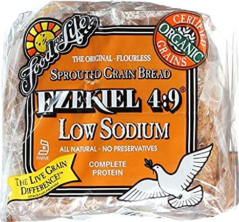 Amazon Com Food For Life Bread Ezekiel 4 9 Sprouted Grain Low Sodium Organic 24 Ounce