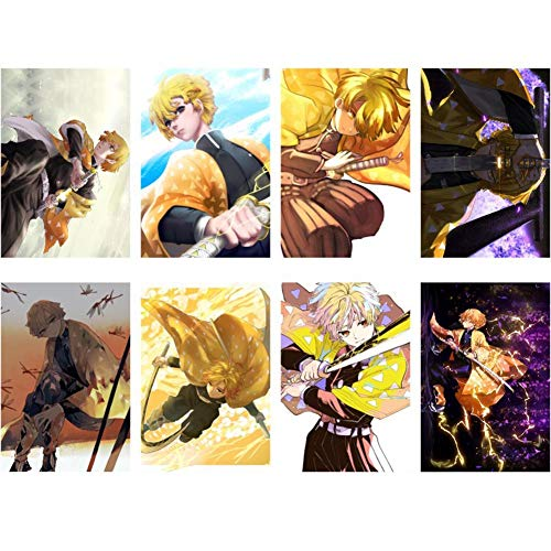 Zzeroe 8pcs Demon Slayer: Kimetsu no Yaiba Poster Prints, Anime Scrolls Poster Banners for Collect Home Wall Bedroom Decoration, 4029CM(H05) from Zzeroe