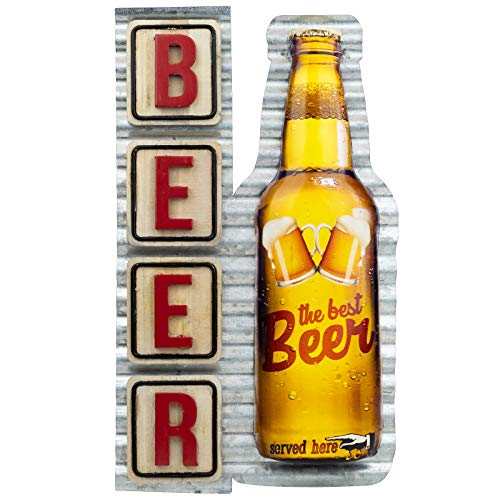 Excello Global Products Vintage Metal Beer Signs Tin Retro Wall Wood Iron Plaque for Cafe Club Art Signs Poster Home Man Cave Decor Vintage Bar Decoration 8