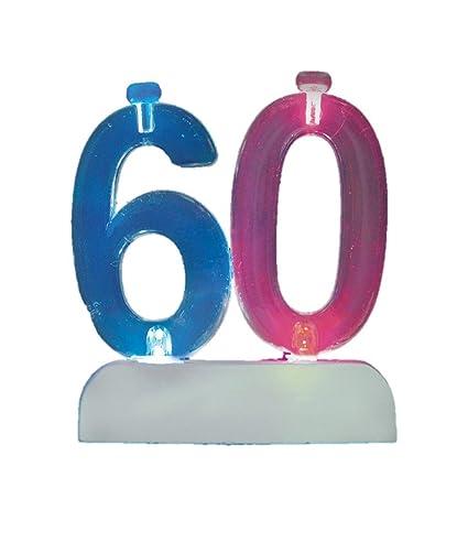 Amazon Flashing Number 60 Cake Topper Birthday Candle Set