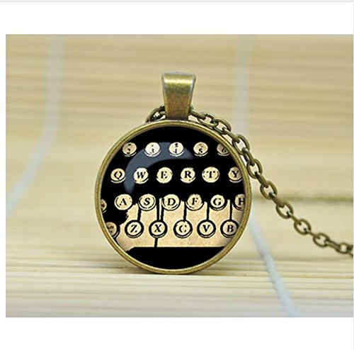 - Typewriter Keys Necklace - Typewriter Key Jewelry - Old School Writing - Gift for Writer - Administrative Assistant - Secretary (1)