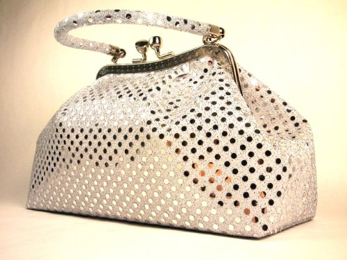 Handbag WiseGloves Metallic Silver Evening
