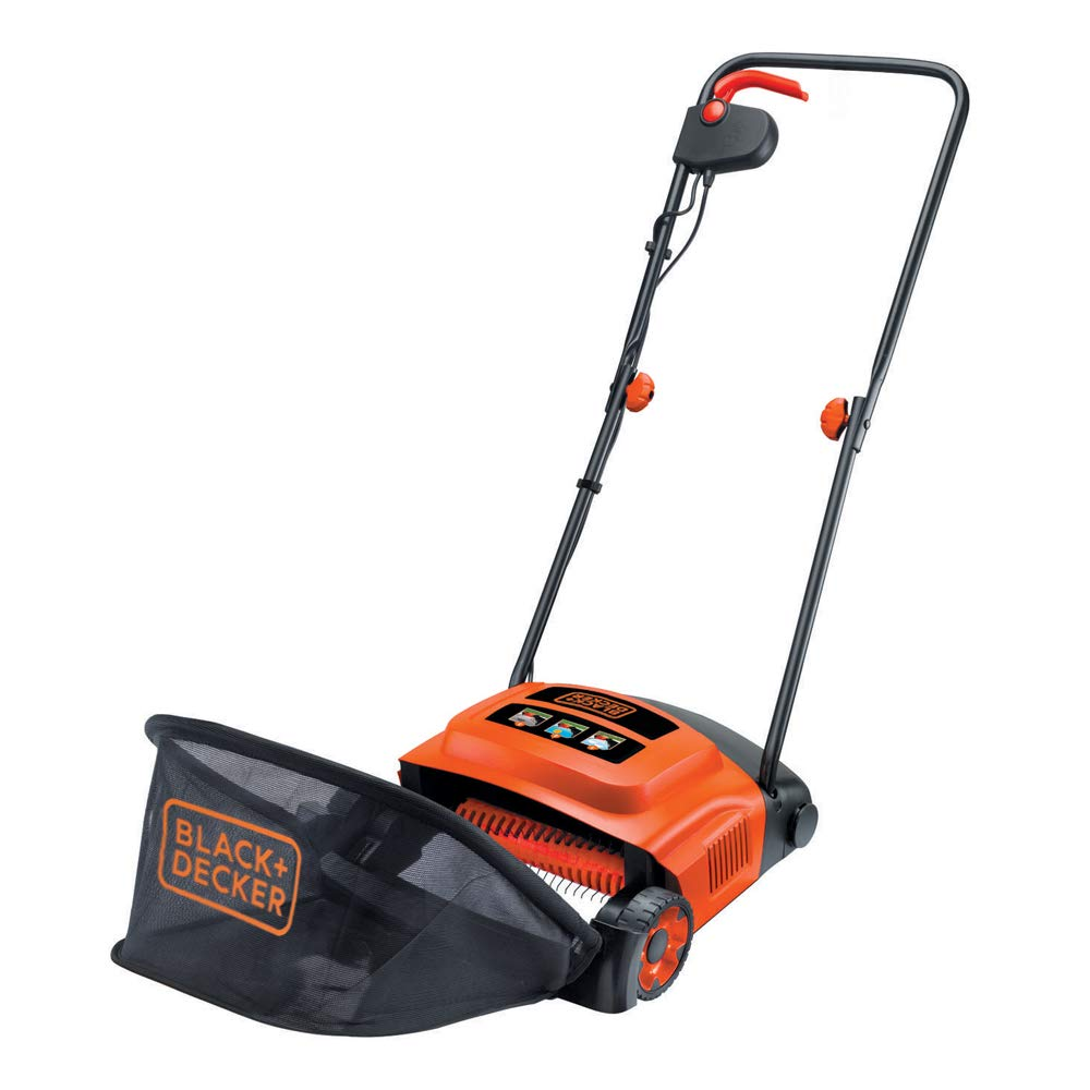 BLACK+DECKER 600W 30cm Lawn Raker Stanley BLACK+DECKER B/DGD300 Mowers Power_Tools_