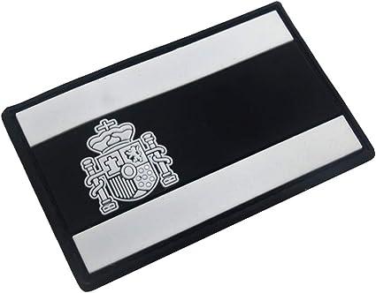 SimpleMfD - Parche bordado con insignia de bandera de España para ropa o mochila: Amazon.es: Oficina y papelería
