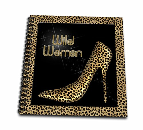 Price comparison product image 3dRose db_21804_2 Cheetah Print Wildl Woman Stiletto Pump and Diamond Bling-Memory Book, 12 by 12-Inch