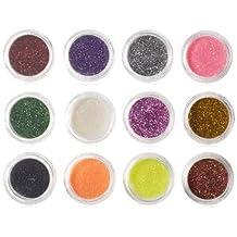 SHANY Nail Glitter Set, 12 Assorted Colors, Set1