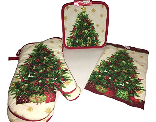 [Holiday Season Greetings Complete Pot Holder Multi-Piece Set - USA SELLER - FAST Shipping] (Pot Of Gold Costume Homemade)