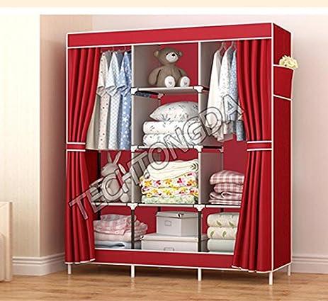High Quality High Reinforced Cloth Wardrobe Closet Rack Shelves Furniture Armoire  Organizer(251290)