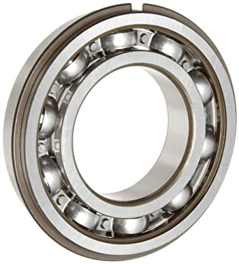 SKF Light Series Deep Groove Ball Bearing, Deep Groove Design, ABEC 1 Precision, Open, Snap Ring, Steel Cage, C3 Clearance