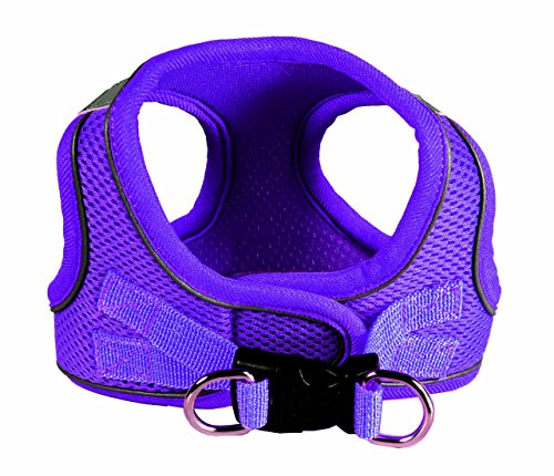 Hip Doggie HD-6EZMPR-L Large EZ Reflective Sports Mesh Harness - Purple