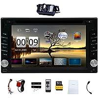 Free Camera ! Upgarde Version ! 2 DIN Car DVD CD Video Player 6.2 inch Bluetooth GPS Navigation Car Stereo Radio Car PC 800MHZ CPU !!!