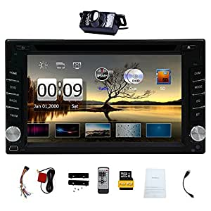 Free Camera ! Upgarde Version ! 2 DIN Car DVD CD Video Player 6.2 inch Bluetooth GPS Navigation Car Stereo Radio Car PC 800MHZ CPU !!!