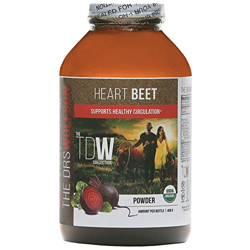 Heart Beet – All Natural Beetroot Powder Blend | 100% Certified Organic | Nitric Oxide Supplement – Boost Energy and Improve Blood Health – (400 g) – Keto, Vegan, Paleo Friendly