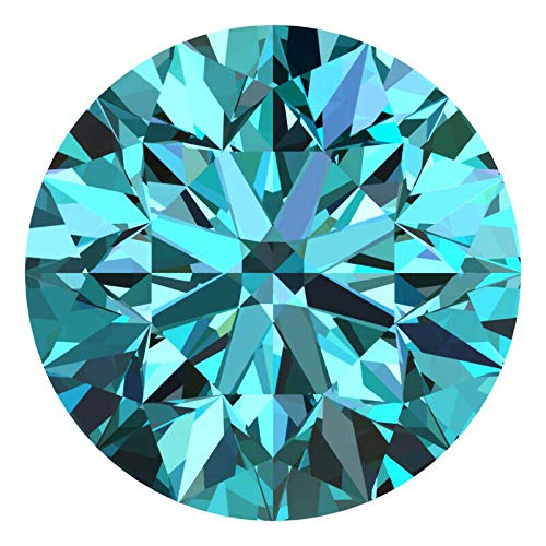 CERTIFIED 1.7 MM / 0.0225 Cts. Natural Loose Diamonds, Pack of 5, Fancy Blue Color Round Brilliant Cut SI3-I1 Clarity 100% Real Diamonds by IndiGems