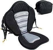AQUARM Kayak Seat with Anti Skid Pad, Canoe Seat with Detachable Back Storage Bag, Adjustable Portable Breatha
