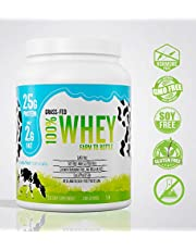 Grass Fed Natural Whey Undenatured 100% Grass Fed Whey Protein Powder, US Farm to Bottle, GMO, Soy, Gluten Free, No Preservatives, Muscle Growth & Recovery, Best Testing Protein