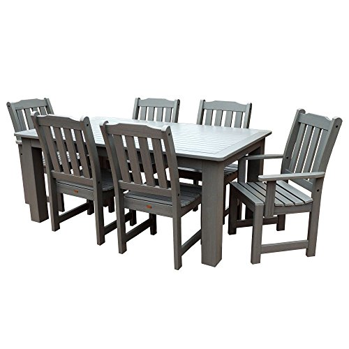 Highwood 7-Piece Lehigh Rectangular Dining Set, Coastal - Low Set Dining Table