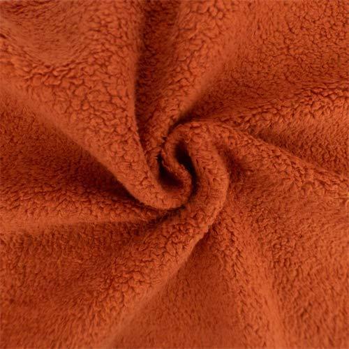 Pumpkin Orange Single-Sided Berber Fleece, Fabric by The Yard