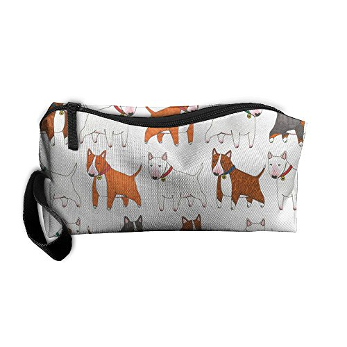 (Bianxieshounadai Bxsnd Lovely Bull Terrier Dog Animals Unisex Oxford Cosmetic Bag Cute Student Pencil Case Creative Cosmetic Pouch)