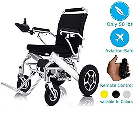 Remote Control Electric Wheelchairs Silla de Ruedas Electrica Para Adultos FDA Approved Transport Friendly Lightweight Folding Electric Wheelchair: Health ...