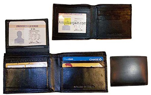 Holder of Bank Wallet Bi Card 2 Leather New 6 3 Billfolds Skinny Man's Lot fold Zxwq78dq