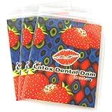 Lixx by Trustex Latex Dams Dental Dams Strawberry Flavor 12 count