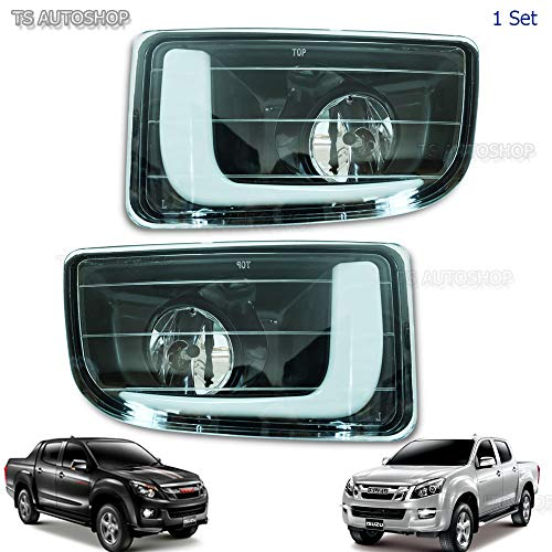 Powerwarauto DRL Daytime Running Light Lamp With Fog Lamp For Isuzu Dmax D-Max Holden Hi-Lander V-Cross 4x4 4x2 2012 2013 2014 2015 Pick-Up UTE Truck