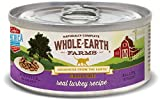 Whole Earth Farms Grain Free Real Morsels in Gravy Turkey Wet Cat Food, 5 oz, case of 24
