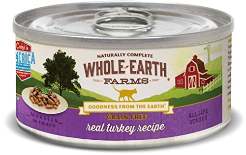 Whole Earth Farms Grain Free Real Morsels in Gravy Turkey Wet Cat Food, 5 oz, case of 24 by Whole Earth Farms