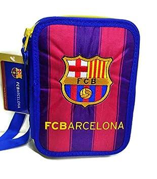 ESTUCHE ESCOLAR FC BARCELONA 2 PISOS: Amazon.es: Juguetes y ...