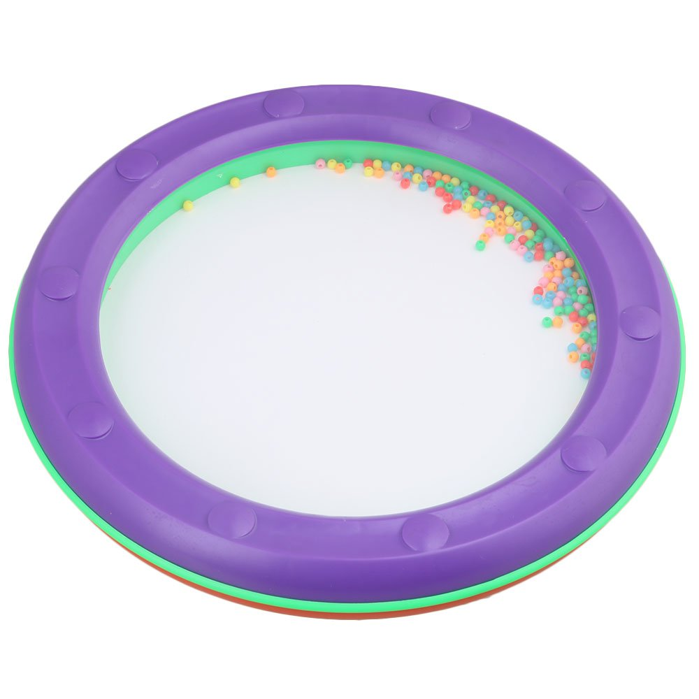 Mxfans 8 Inch Plastic Sea Sound Kid Ocean Surf Drum with Clear Drum Skin Purple